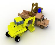 3d illustration of toy cars for boys. royalty free illustration
