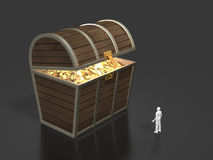 3D illustration of treasure discovery Royalty Free Stock Photos