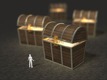 3D illustration of treasure discovery Stock Photo