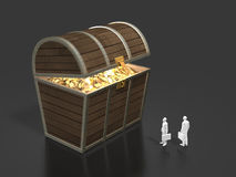 3D illustration of treasure discovery Stock Photos