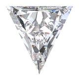 3D illustration triangle diamond stone. On a white background Stock Photo