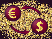 3d illustration tridimensionnelle très belle, figure Symboles du dollar et de l'euro illustration de vecteur
