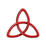 3d illustration of Trinity knot or Triquetra. Isolated on white background Royalty Free Stock Photos