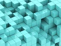 3d illustration of turquoise cubes Royalty Free Stock Photos