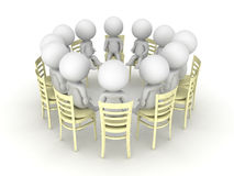 0642 3D illustration of twelve step progam help group Stock Photo