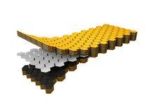 3d Illustration of twist sodium ion battery technology, nano sandwich.  Royalty Free Stock Image