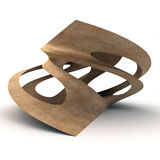 3D Illustration Of Twisted Wood Royalty Free Stock Photos