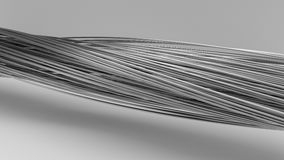 3d illustration of twisting metal rods. On white Royalty Free Stock Image