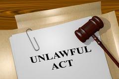 Unlawful Act concept Stock Photo