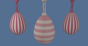3d-illustration, uova di Pasqua pastelli Fotografie Stock Libere da Diritti