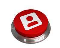 User Account Icon. 3D illustration of user account icon Royalty Free Stock Photography