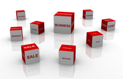 3d business words Royalty Free Stock Images