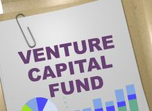 VENTURE CAPITAL FUND concept. 3D illustration of VENTURE CAPITAL FUND title on business document Stock Photos