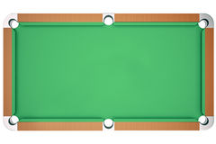 3D illustration view top pool billiard game. American pool billiard. Pool billiard game. Billiard sport concept. Top Stock Photography