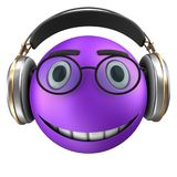 3d violet emoticon smile Royalty Free Stock Photography