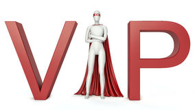 3d Illustration of vip (very important person) man. 3d rendering Royalty Free Stock Photo