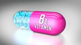 Vitamin capsule or dietary supplements. 3D illustration of a vitamin capsule or dietary supplements Royalty Free Stock Photos