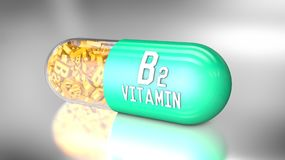 Vitamin capsule or dietary supplements. 3D illustration of a vitamin capsule or dietary supplements Royalty Free Stock Image