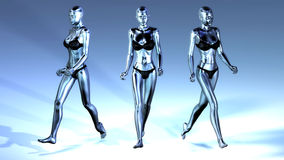 3D Illustration of walking Manikins Royalty Free Stock Images