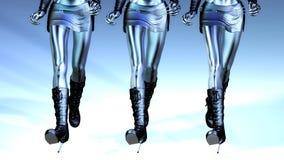 3D Illustration of walking Manikins Stock Images