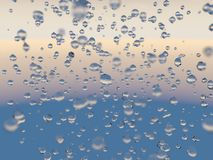 3d illustration of water droplets. Stock Images