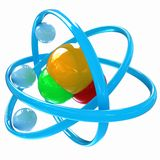 3d illustration of a water molecule Stock Photos