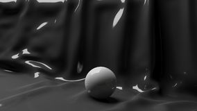 3d Illustration White Ball on a Black Background Royalty Free Stock Photo