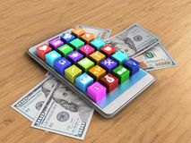 3d application icons Royalty Free Stock Images