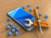 3d white phone Stock Photography