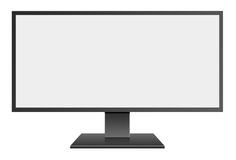 3D illustration Wide Screen Computer Mornitor with blank screen Royalty Free Stock Photos