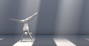 3d illustration of a woman doing gymnastics Royalty Free Stock Photos