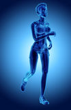 3d illustration - woman runing pose. Royalty Free Stock Images