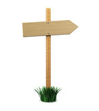 Wood direction sign Stock Image