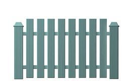 3d illustration. Wooden fence element isolated on white background.  vector illustration