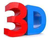 Word 3D over white background. 3D illustration of Word 3D over white background Royalty Free Stock Photos