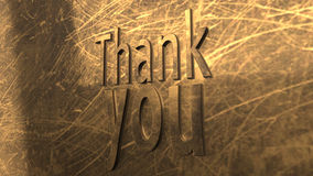 3D Illustration: The word Thank you Stock Photo
