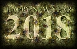 Happy New Year 2018 Nature Theme Royalty Free Stock Images