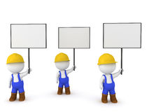 3D Illustration of worker strike Royalty Free Stock Photography