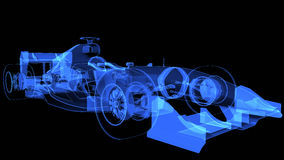 3d Illustration of xray sport car Royalty Free Stock Photography
