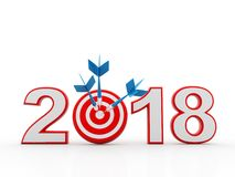 Business Target with 2018, Business Success stock illustration
