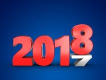 3d 2018 year sign Royalty Free Stock Image
