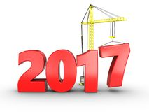 3d 2017 year sign. 3d illustration of 2017 year sign over white background Royalty Free Stock Images