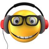 3d yellow emoticon smile Royalty Free Stock Photos