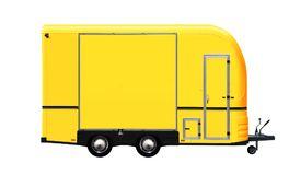 3D illustration of yellow food truck Stock Image