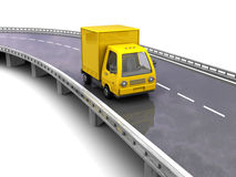 Delivery truck on road Royalty Free Stock Photo