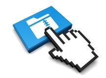 Zip Folder. 3D Illustration Zip Folder Vector Royalty Free Stock Photography