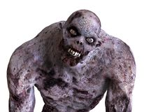 3D Illustration Zombie Monster. Isolated On White Stock Image