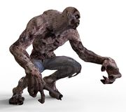 3D Illustration Zombie Monster. Isolated On White Royalty Free Stock Images