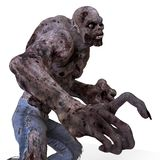 3D Illustration Zombie Monster. Isolated On White Royalty Free Stock Image