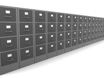 Cabinets row. 3d illustrationof cabinets row, over white background Royalty Free Stock Photo